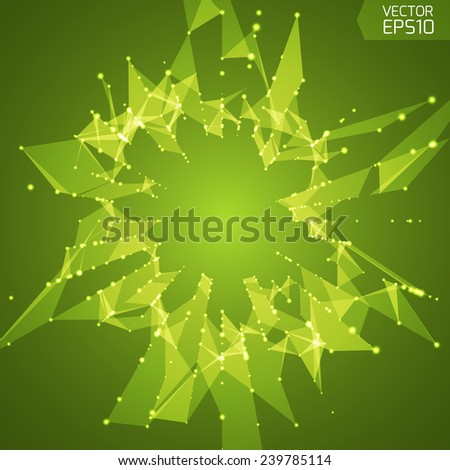 Abstract vector background. Futuristic style card. Elegant background for business presentations. Lines, point, planes in 3d space.  - stock vector