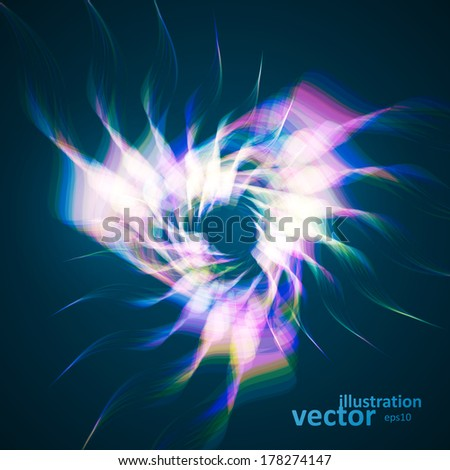 Abstract vector background, futuristic wavy illustration eps10.