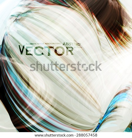 Abstract vector background, futuristic wavy illustration eps10 - stock vector
