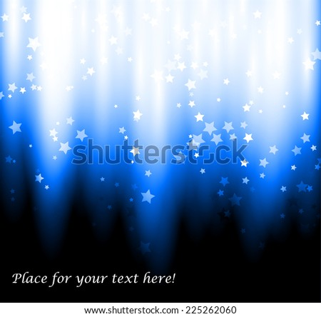 Abstract vector background. Glow, strips and sparks.