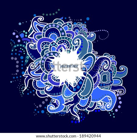 Abstract vector background, hand drawn design of doodles.  - stock vector