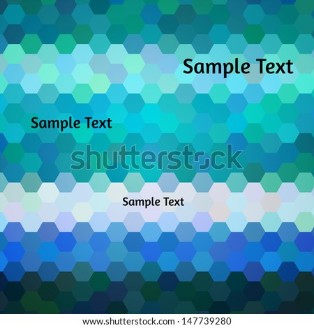 Abstract vector background. Horizontal stripes of varied colors. Marine tints. - stock vector