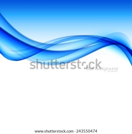 Abstract vector background in blue color. Flyer brochure design - stock vector
