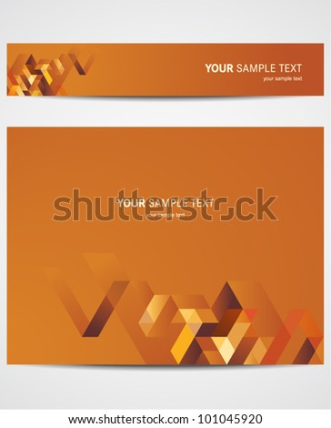 Abstract vector background in warm color