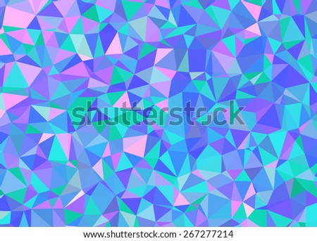 Abstract vector background low poly effect pattern illustration. EPS 10 Vector format. Blue color. - stock vector