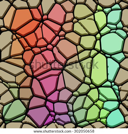 Abstract vector background of colorful stones.