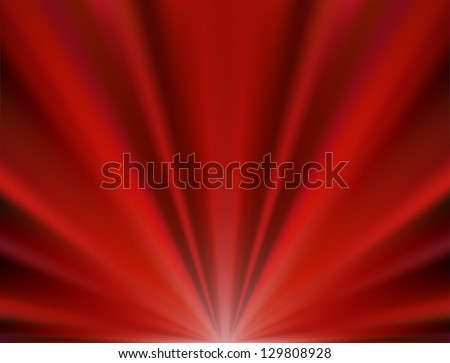Abstract vector background of red rays, vector illustration - stock vector