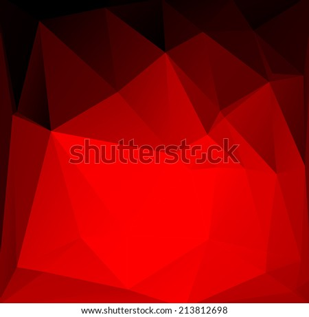 Abstract vector background of triangular polygons. - stock vector