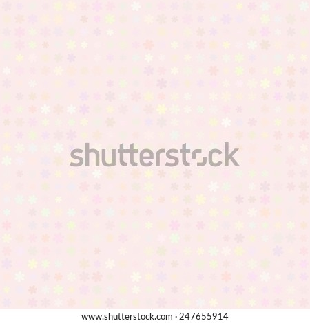 Abstract vector background Polka dot flowers seamless texture Pastel colors - stock vector