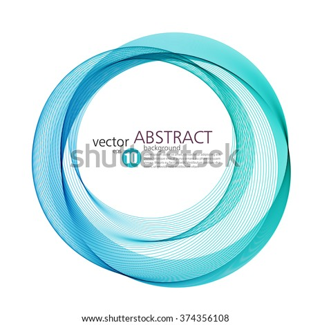 Abstract vector background, round blue transparent ring. Circle shape. Circle lines. Blue circles. Transparent circle. Vector circle. Abstract wave circles. Circle frame. Blue Circle abstract.  - stock vector