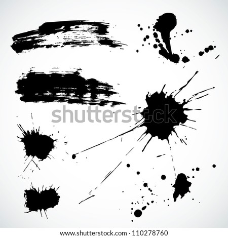 Abstract vector background set for design use. - stock vector