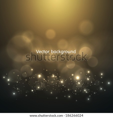 Abstract vector background. Soft bokeh and lights. - stock vector