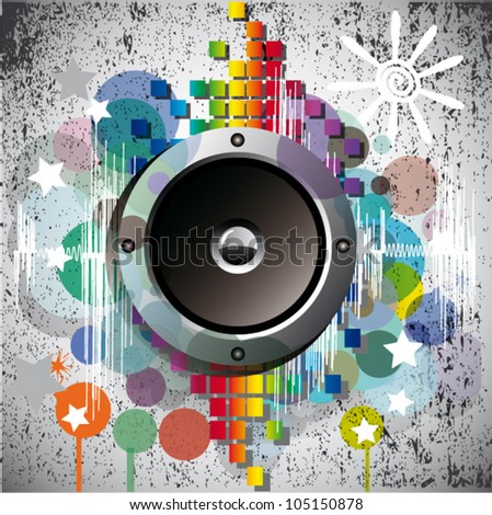 Abstract Vector Background  Sound Theme.