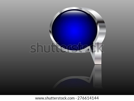 Abstract vector background speech bubble 3d - stock vector
