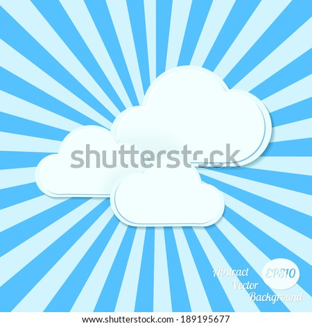 Abstract vector background. Stylized clouds