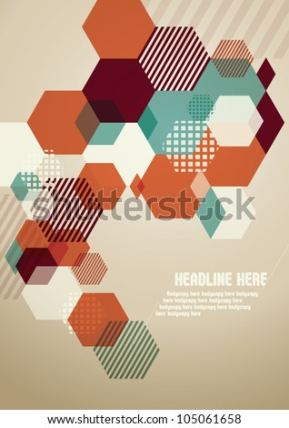 Abstract Vector Background / template / design - stock vector