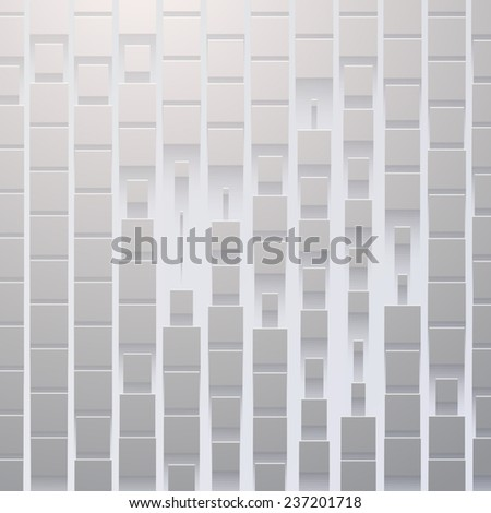 Abstract Vector Background Texture with flat shadow - stock vector