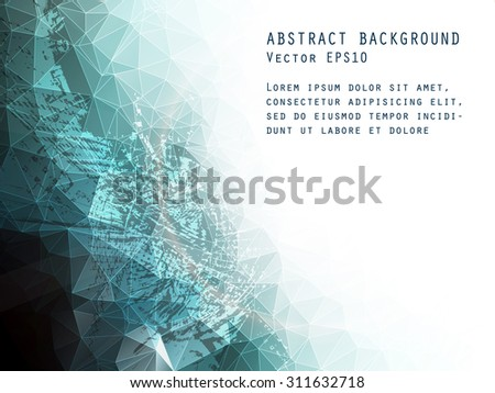 Abstract vector background. Triangle pattern. - stock vector