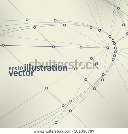Abstract vector background, vintage technology illustration eps10