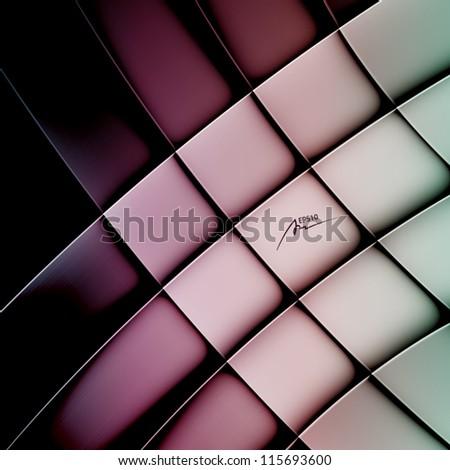 abstract vector background, web design element, vintage art banner, geometric illustration - stock vector