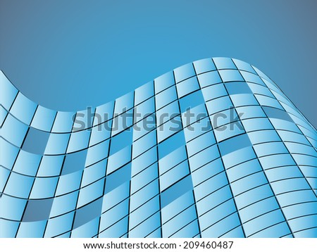 Abstract vector background with blue squares