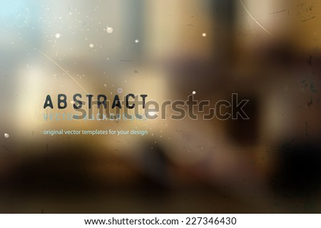 abstract vector background with blurred particles and lightings - stock vector