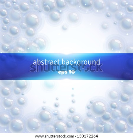 Abstract vector background with bubbles - stock vector