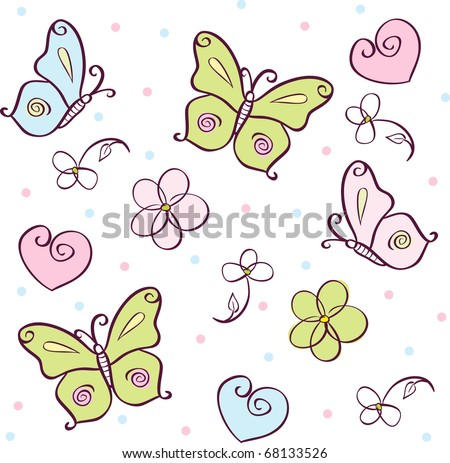 abstract vector background with butterfly