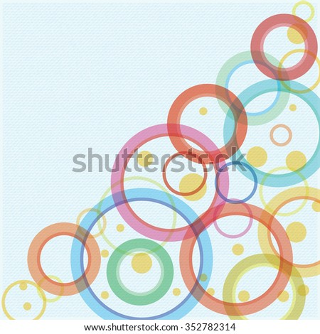 Abstract vector background with circles - stock vector