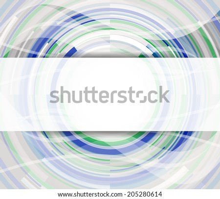 Abstract vector background with circular elements/design with place for your content, print or PC desktop  - stock vector