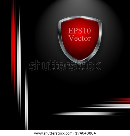 abstract vector background with colorful shield. Eps10 design