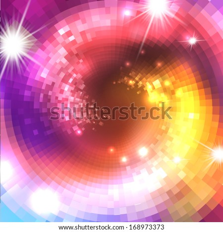 Abstract vector background with concentric circles or spirals for your design