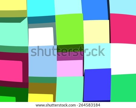 abstract vector background with deform tiles.color box - stock vector