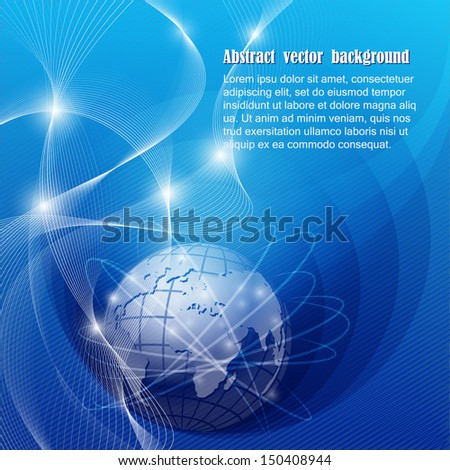 Abstract vector background with Earth - stock vector
