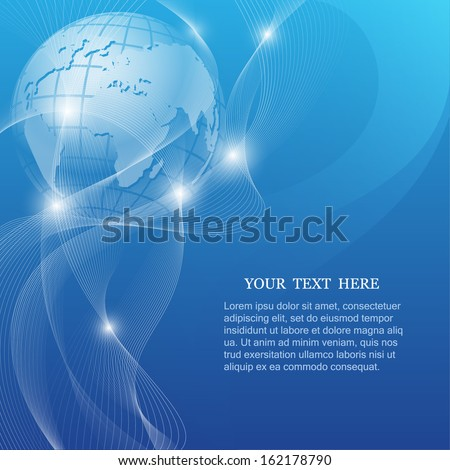 Abstract vector background with Earth