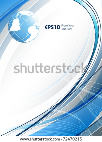 abstract vector background with globe and copy space. Eps10