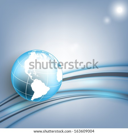 abstract vector background with globe. Eps10 colorful design