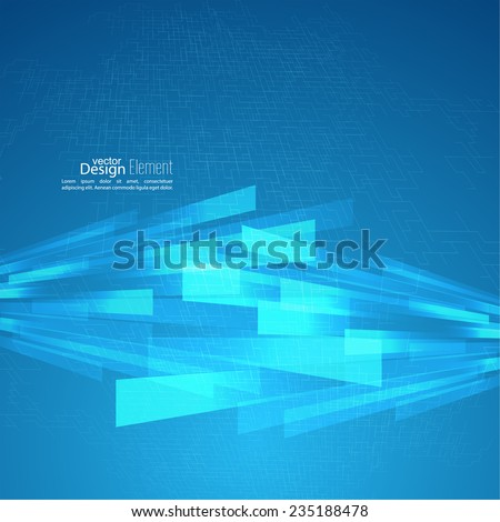 Abstract vector background with glowing grid, stripes, particles, molecules. technology, science and research. cyberspace to cells. Data. energy stream - stock vector