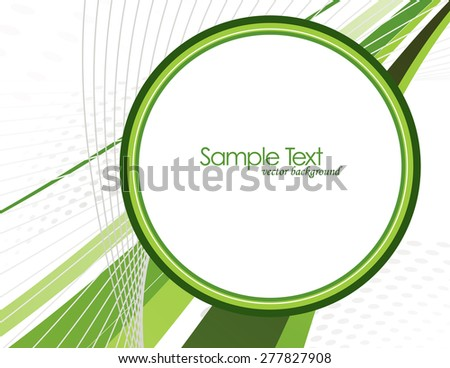 Abstract Vector Background with Green Elements.