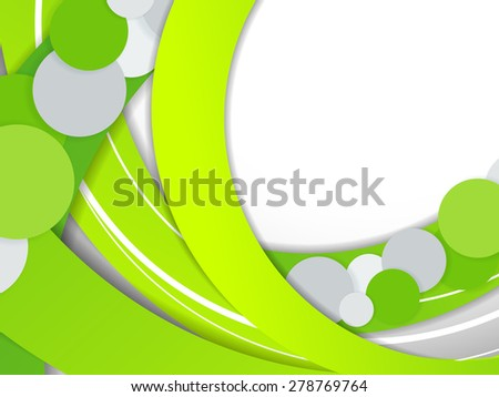 abstract vector background with green graphic elements. Eps10 - stock vector