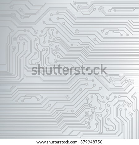 Abstract vector background with high tech circuit board. Microchip background. EPS10 vector - stock vector