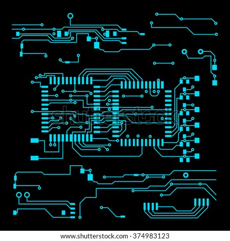 Abstract Vector Background High Tech Circuit Stock Photo (Photo ...
