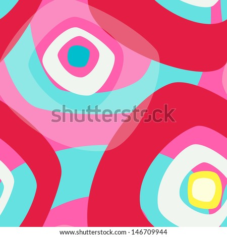 Abstract vector background with light motives in colors of the red caramel - stock vector