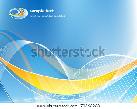 abstract vector background with  lines. Eps10 - stock vector