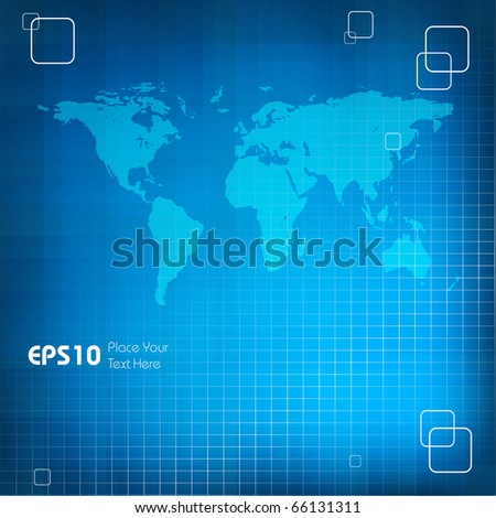 abstract vector background with map and copy space.Eps10 - stock vector
