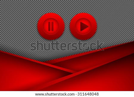abstract vector background with play&pause buttons. Eps10 - stock vector