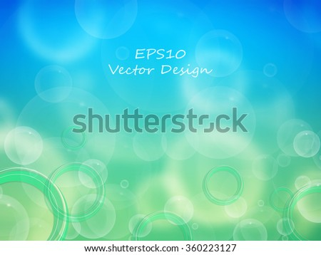 abstract vector background with shining bubbles and copy space. Eps10