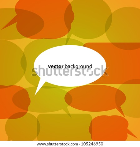 Abstract Vector Background with Speech Bubbles - stock vector