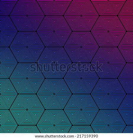 Abstract vector background with spiral with straight lines, that have illusion effect. - stock vector
