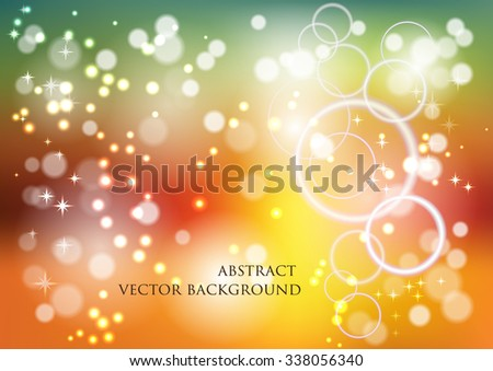 Abstract vector background with the effect of blur glowing circles , highlights and bokeh effect